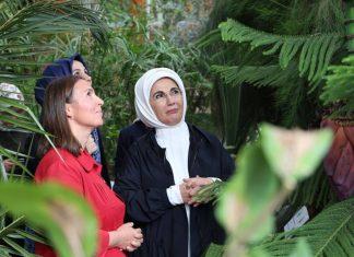Emine Erdoğan ve Bitkiler.